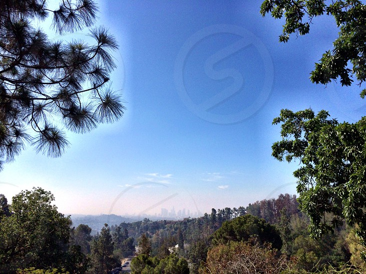 View of LA from the hills photo