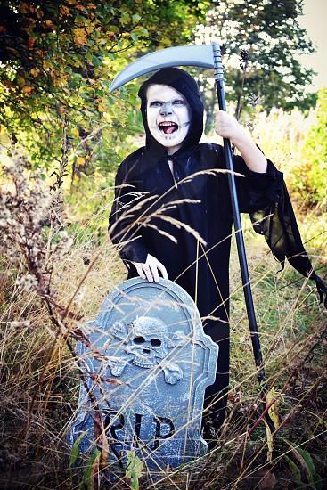 Halloween costume reaper photo