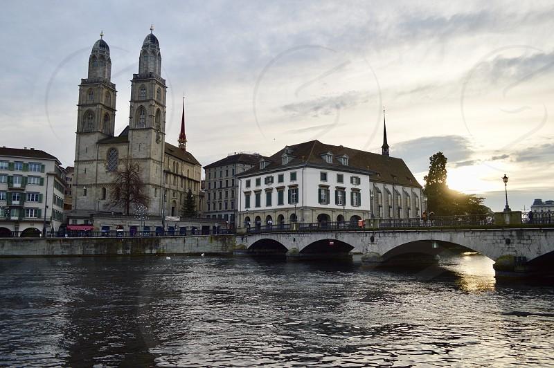 Sihl the river of Zurich Switzerland photo