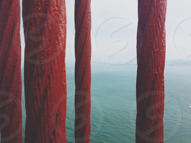 red large cable wires photo