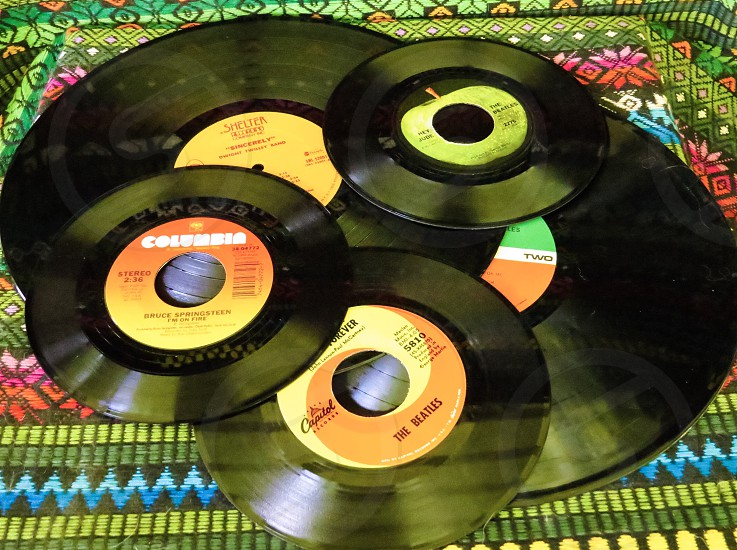 Collection records vinyl music oldies  photo