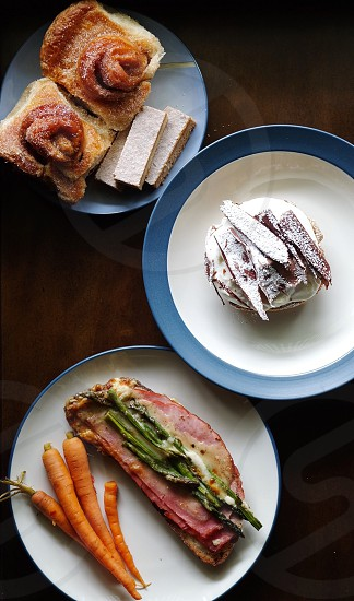 Brunch breakfast Tartine banana cream tart morning bun pickled carrots Croque Monsieur Sundays Sunday mornings Lazy Sundays photo
