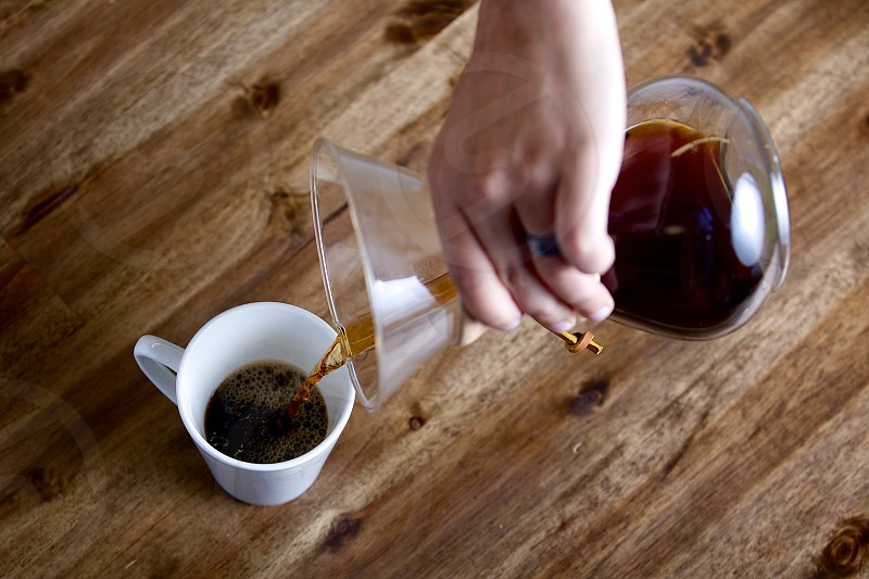 Pouring coffee photo