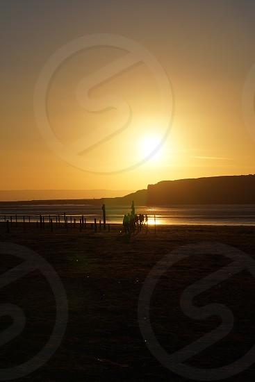 golden hour on the beach photo