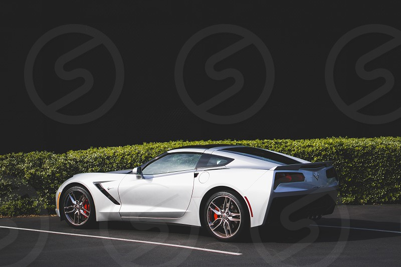 car sports car rims brakes silver corvette Chevrolet split  photo