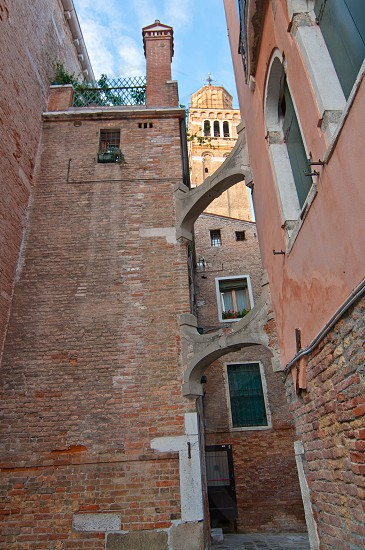 Venice Italy unusual pittoresque view most touristic place in the world still can find some secret hidden spot photo