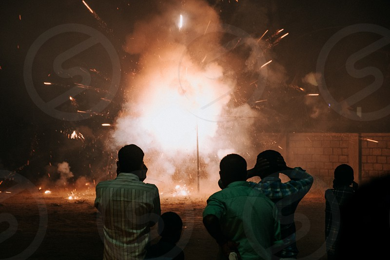 Firecrackers at a Catholic festival in Kerla photo