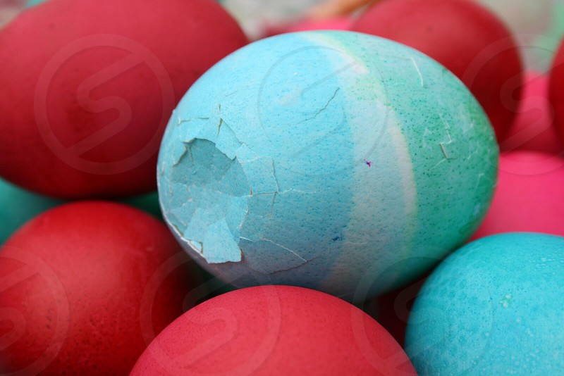 Spring colors Easter eggs holiday  photo