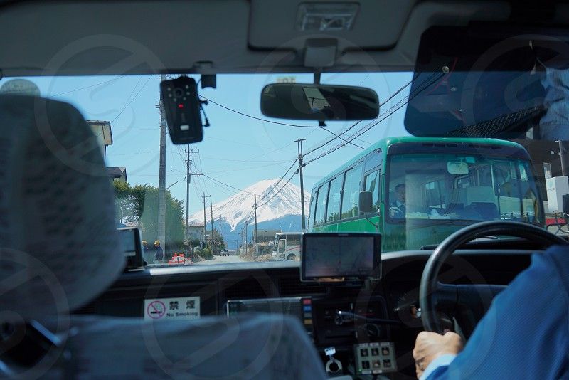 Mt Fuji view from Taxi photo