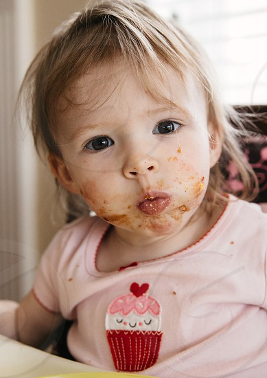 Peanut Butter Jelly Face! photo