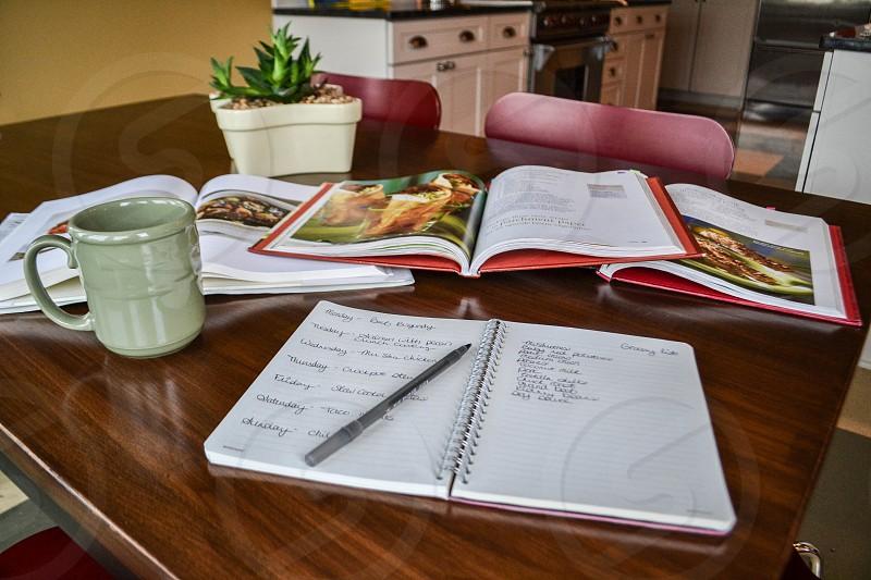 recipe planning photo