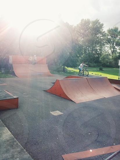 bmx skatepark in the sun photo