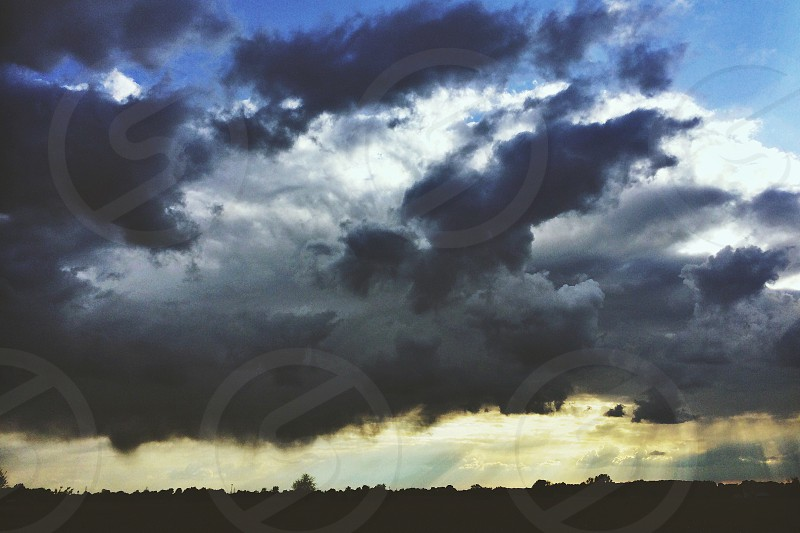 heavy clouds on the sky photo