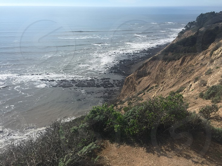 Hiking cliff ocean  photo