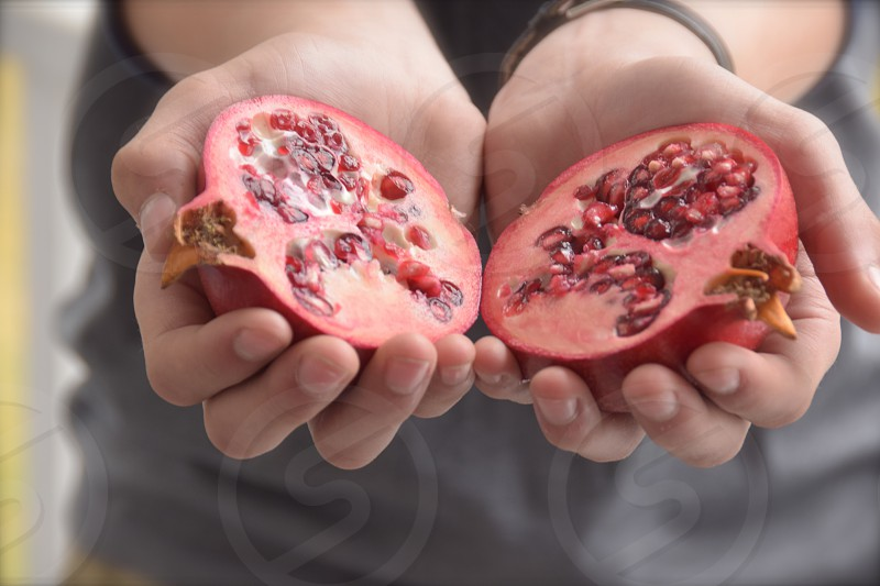 Vegan pomegranate photo