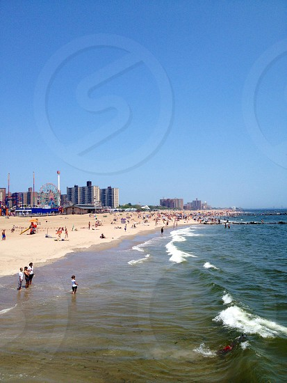 view of white sand beach photo