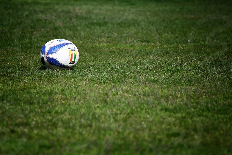 Garden green sport rugby field. photo