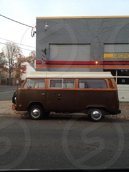 brown van  photo