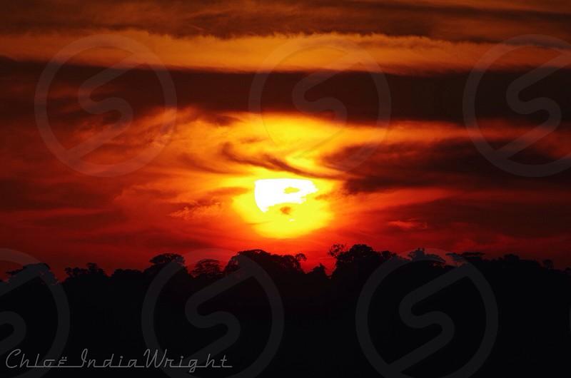 A whipped cream sunset over the Amazon. CICRA Madre de Dios Perú 2014 photo