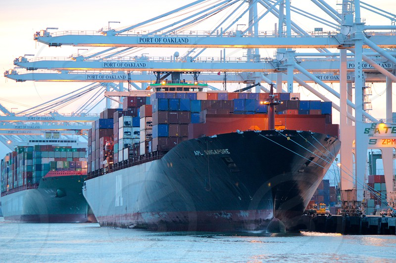 Port of Oakland. Container Ships. photo