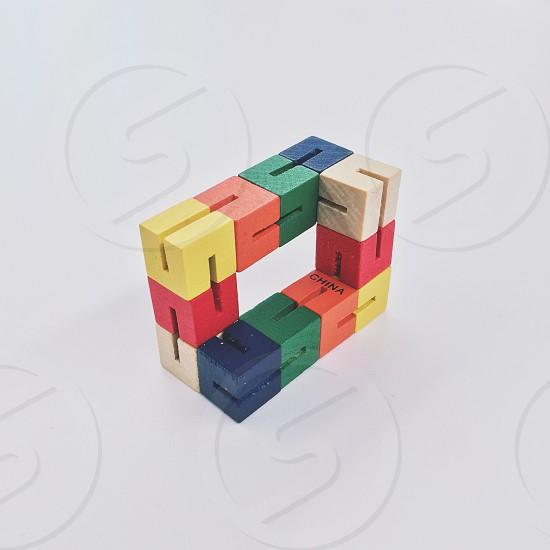 Square block toy cube photo