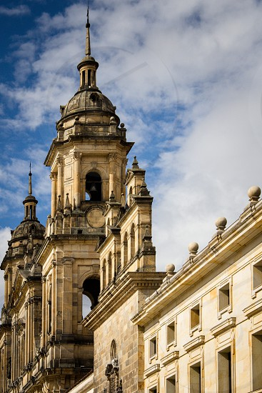 Bogota Cathedral Bogota Cathedral churches steeples blue skies blue sky Colombia  photo