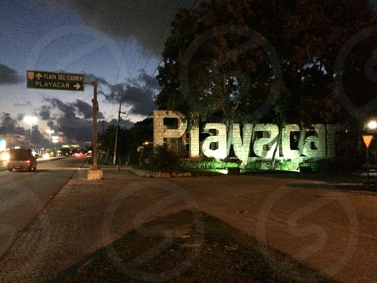 Playacar entrance Playa del Carmen mexico  Quintana Roo  photo