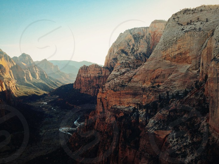 Zion sunset sunrise mountain valley fall photo