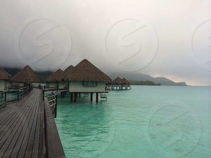 Island; holiday; water; mountain; Bora Bora; wanderlust; travel  photo