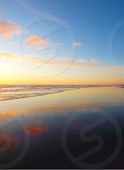 Washington coast sunset reflection photo