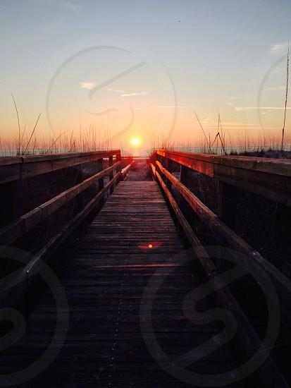 sunrise in St Augustine Beach Florida photo