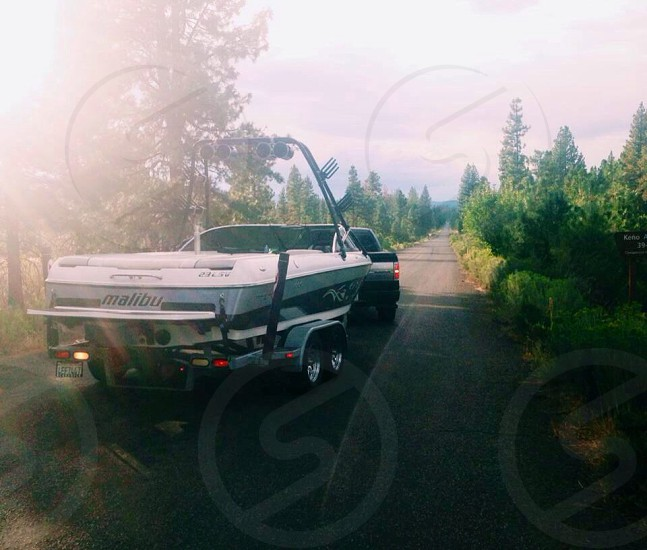 malibu speedboat trailer photo