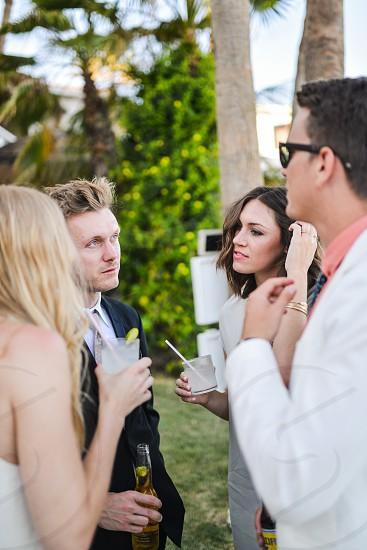 friends cocktails fancy party photo