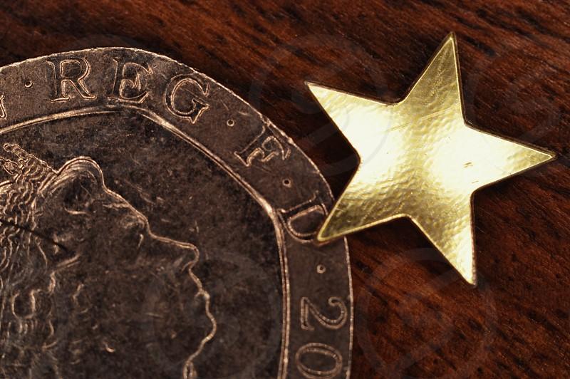 money coin queen star macro financial wood oak wealth photo