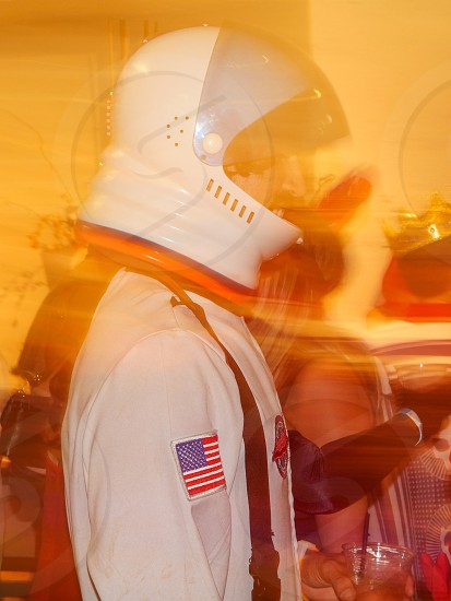 Trick or treat party adult costume Halloween cosmonaut USA  photo
