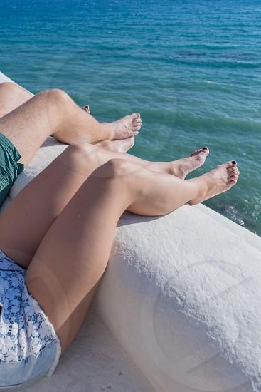 "Lifestyle-summertime. The ""scala dei Turchi"" important Sicilian tourist attraction. photo"