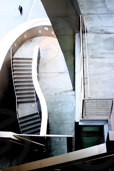 concrete stairways circular photo