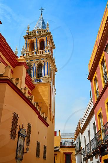 Seville Santa Ana church in Spain at Triana barrio of Sevilla andalusia photo