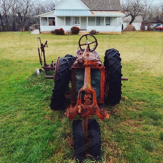 orange tractor photo