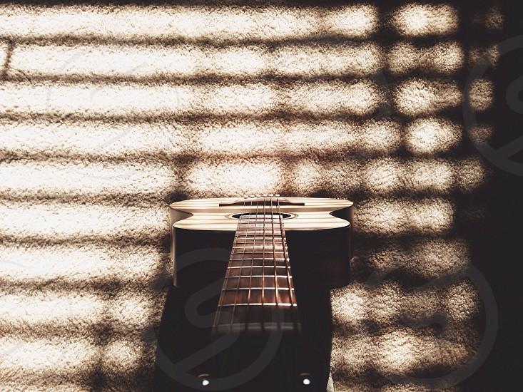 acoustic guitar wooden photo