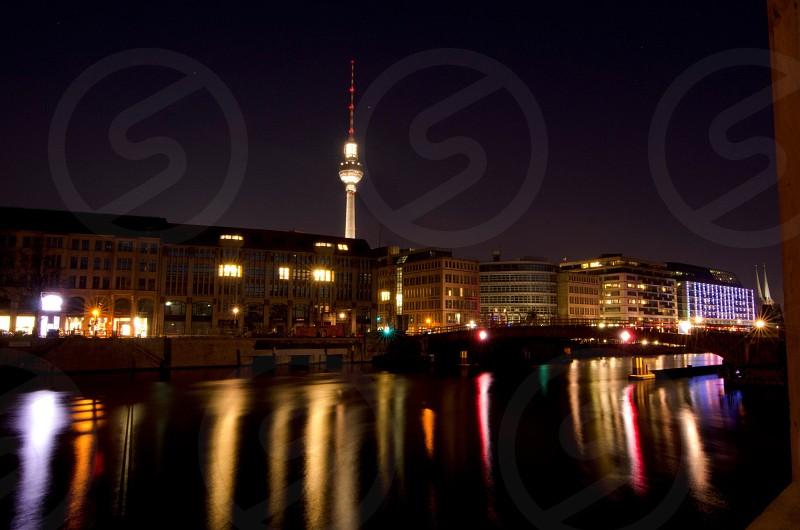 tower night view phot photo