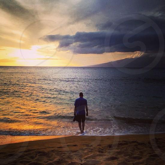Hawaiian sunset.. Ka'anapali Maui photo
