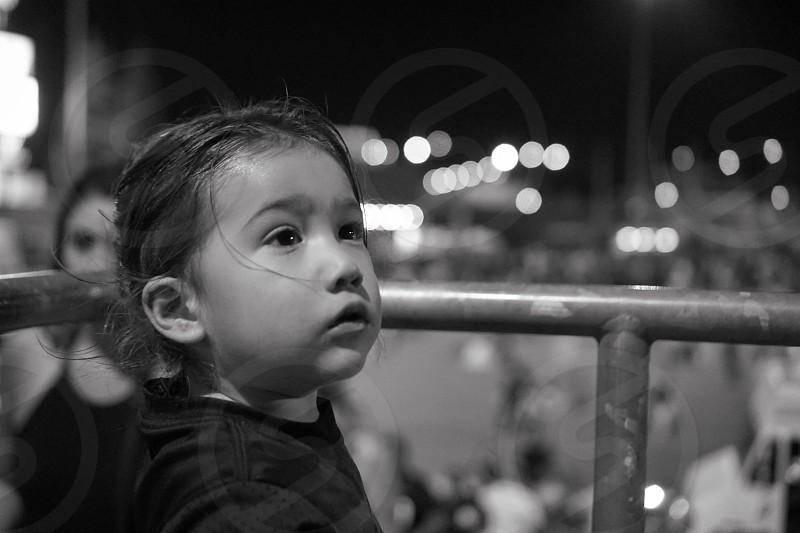 Baseball game toddler black and white nephew  photo