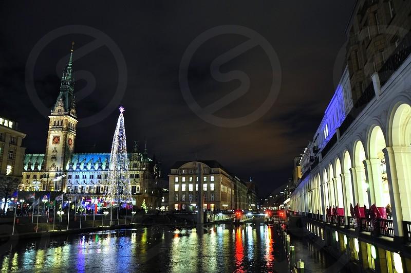 Weihnachtsmarkt in Hamburg Germany photo