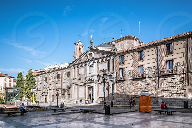 Convent of Las Descalzas Reales in Madrid. It is a royal monastery that resides in the former palace of King Charles I of Spain in the historical centre of Madrid photo