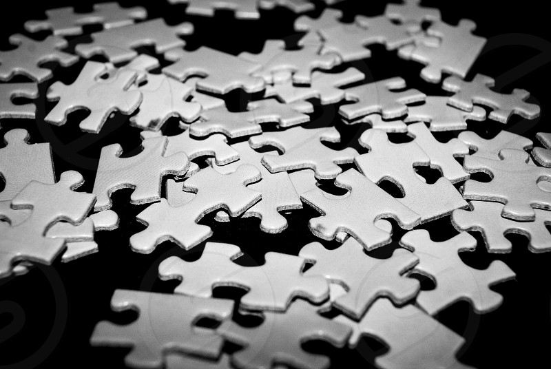 Puzzle pieces photo