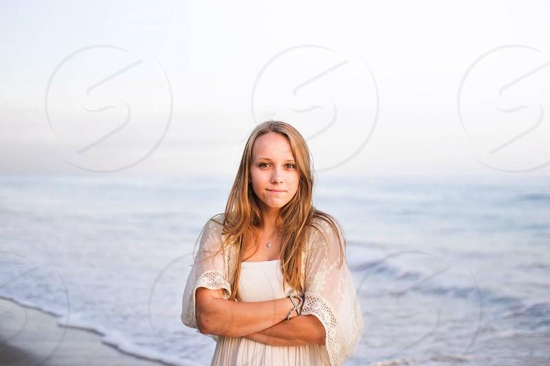 woman on seashore photography photo