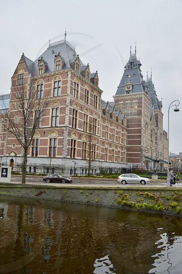 Rijksmuseum in Amsterdam Netherlands.  photo
