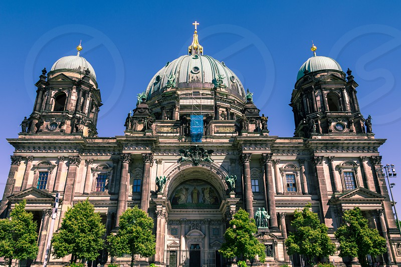 Exterior view of Berliner Dom also known as Berlin Cathedral in the historic city of Berlin in Germany on a sunny summer day photo