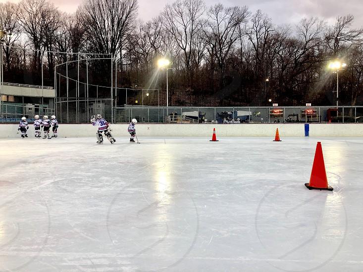 Hockey practice ice skating! photo